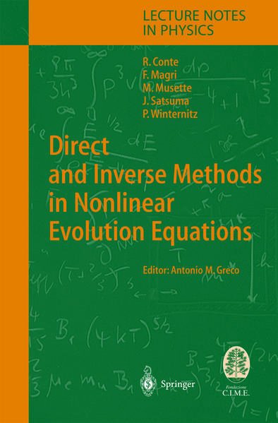 Direct and Inverse Methods in Nonlinear Evolution Equations - Coverbild
