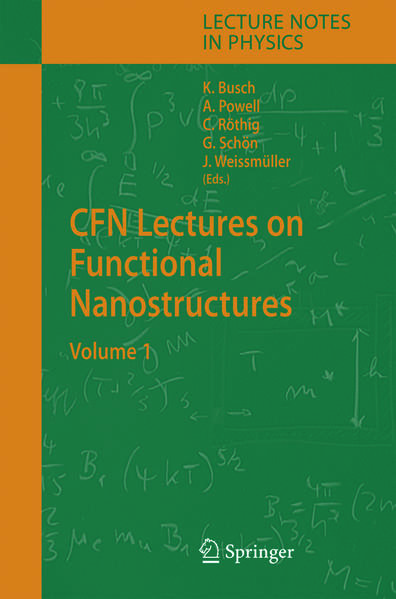 CFN Lectures on Functional Nanostructures - Coverbild