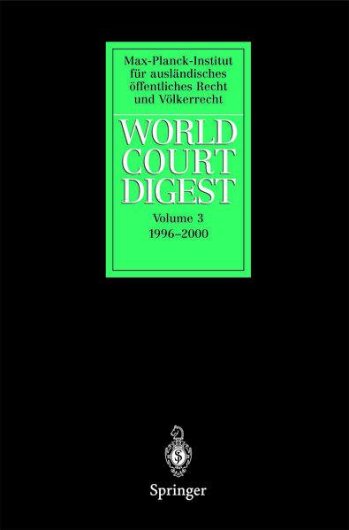 World Court Digest - Coverbild