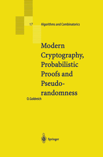 Modern Cryptography, Probabilistic Proofs and Pseudorandomness - Coverbild