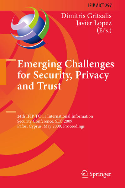 Emerging Challenges for Security, Privacy and Trust - Coverbild