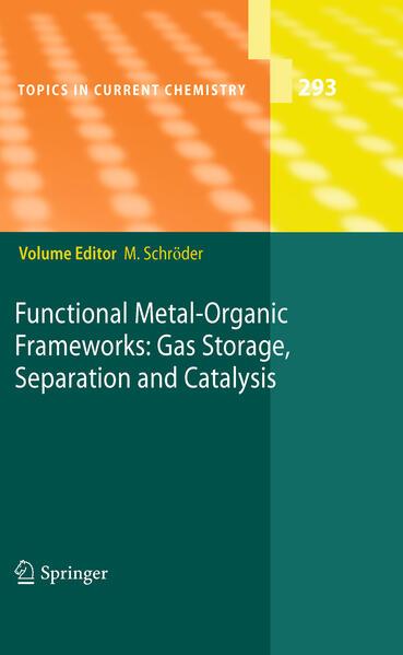Functional Metal-Organic Frameworks: Gas Storage, Separation and Catalysis - Coverbild