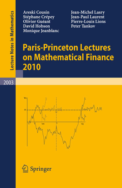 Paris-Princeton Lectures on Mathematical Finance 2010 - Coverbild