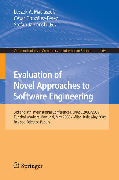 Evaluation of Novel Approaches to Software Engineering - Coverbild