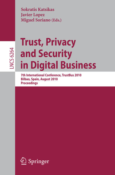Trust, Privacy and Security in Digital Business - Coverbild