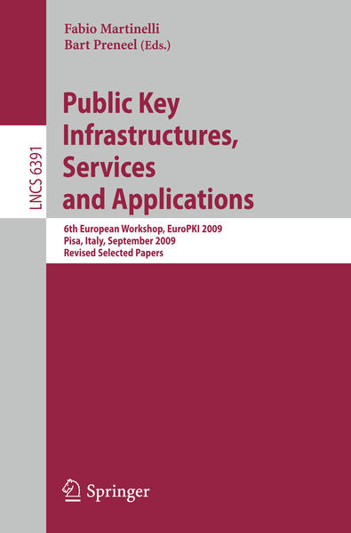 Public Key Infrastructures, Services and Applications - Coverbild