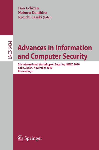 Advances in Information and Computer Security - Coverbild
