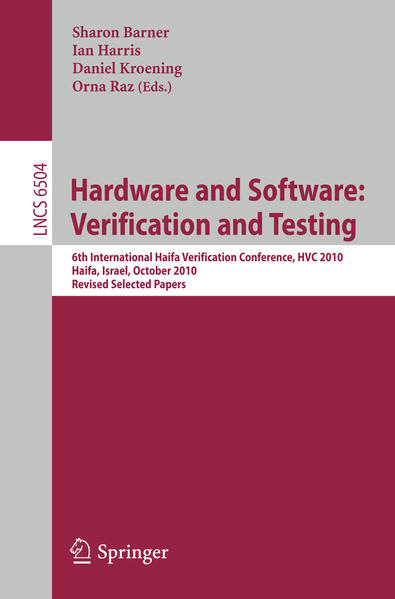 Hardware and Software: Verification and Testing - Coverbild