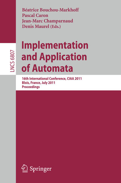 Implementation and Application of Automata - Coverbild