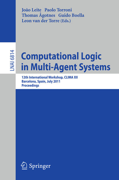 Computational Logic in Multi-Agent Systems - Coverbild