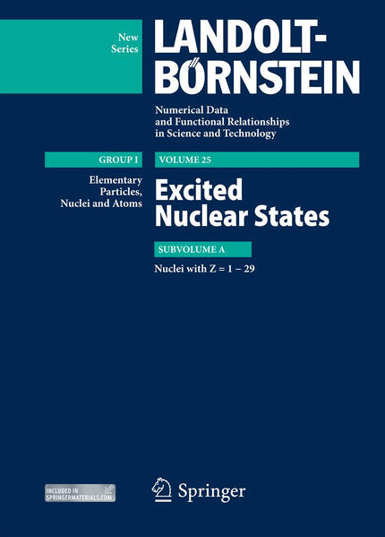 Z = 1-29. Excited Nuclear States - Coverbild