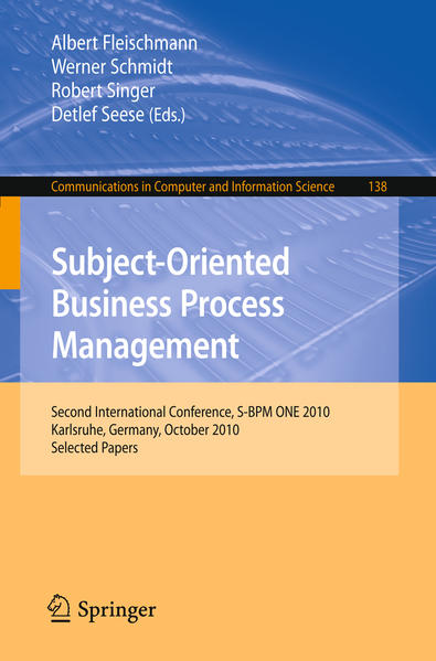 Subject-Oriented Business Process Management - Coverbild