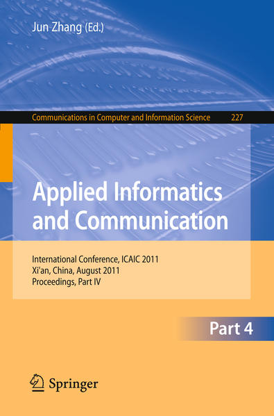 Applied Informatics and Communication, Part IV - Coverbild