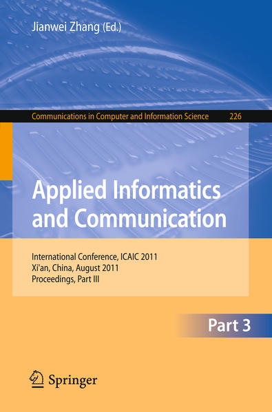 Applied Informatics and Communication, Part III - Coverbild