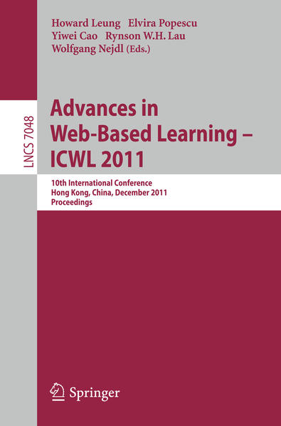 Advances in Web-based Learning - ICWL 2011 - Coverbild