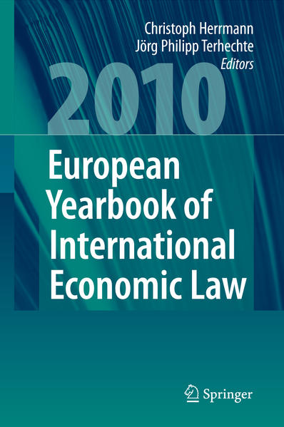 European Yearbook of International Economic Law 2010 - Coverbild