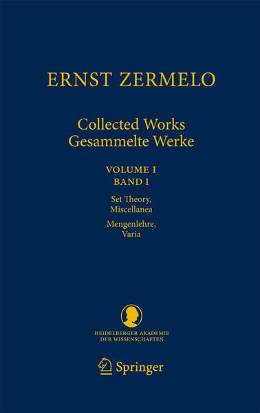 Ernst Zermelo - Collected Works/Gesammelte Werke - Coverbild