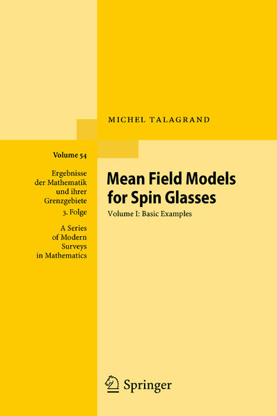 Mean Field Models for Spin Glasses - Coverbild