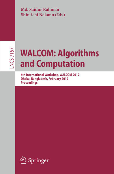 WALCOM: Algorithm and Computation - Coverbild