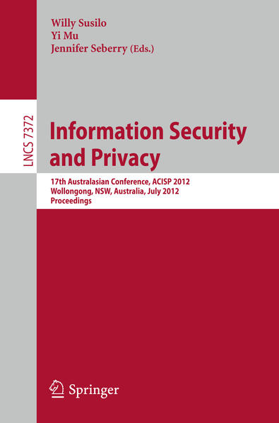 Information Security and Privacy - Coverbild