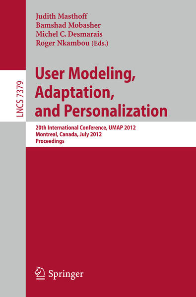 User Modeling, Adaptation, and Personalization - Coverbild