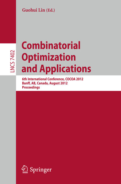 Combinatorial Optimization and Applications - Coverbild
