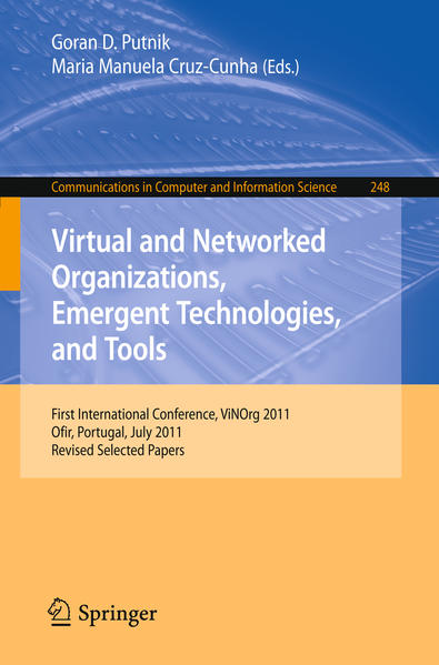 Virtual and Networked Organizations, Emergent Technologies and Tools - Coverbild