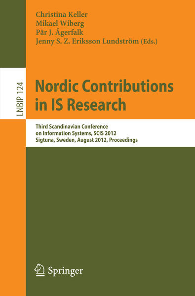 Nordic Contributions in IS Research - Coverbild