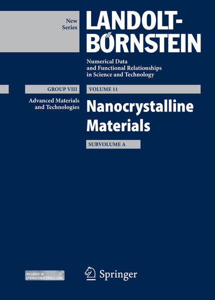 Nanocrystalline Materials, Subvolume A - Coverbild