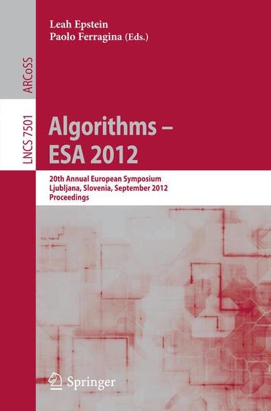 Algorithms –- ESA 2012 - Coverbild
