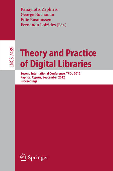 Theory and Practice of Digital Libraries - Coverbild