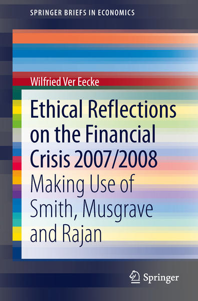 Ethical Reflections on the Financial Crisis 2007/2008 - Coverbild