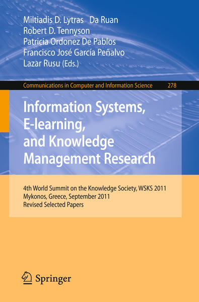 Information Systems, E-learning, and Knowledge Management Research - Coverbild