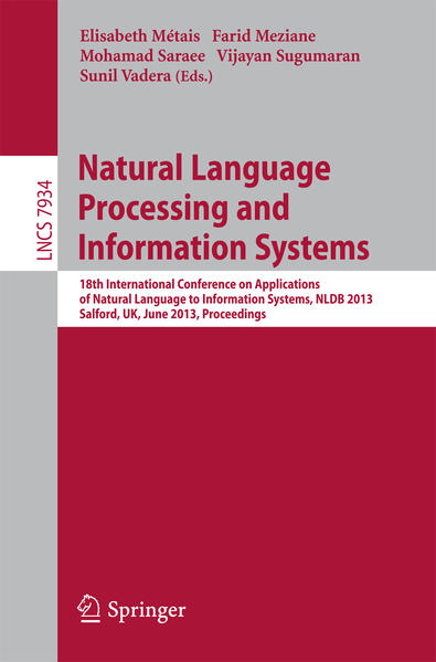 Natural Language Processing and Information Systems - Coverbild