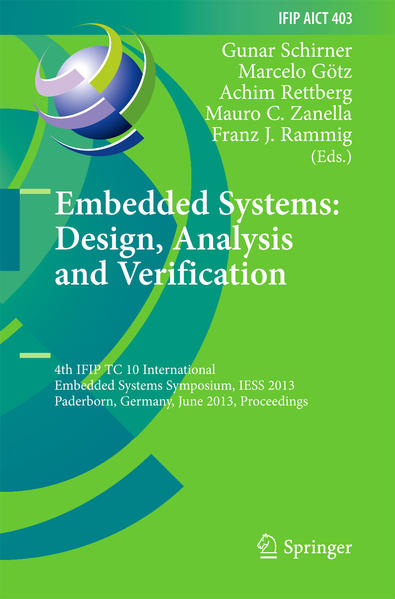 Embedded Systems: Design, Analysis and Verification - Coverbild