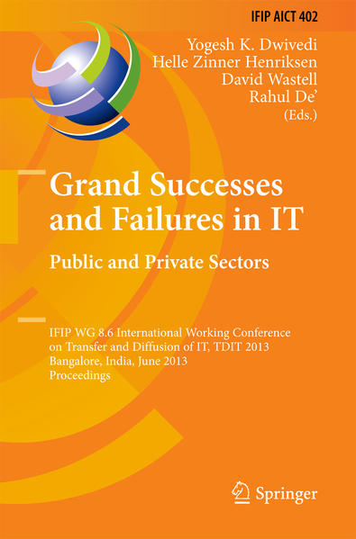 Grand Successes and Failures in IT: Public and Private Sectors - Coverbild