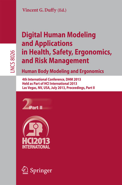 Digital Human Modeling and Applications in Health, Safety, Ergonomics and Risk Management. Human Body Modeling and Ergonomics - Coverbild