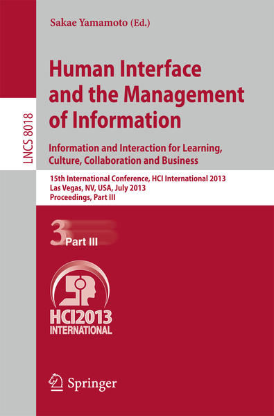 Human Interface and the Management of Information - Coverbild