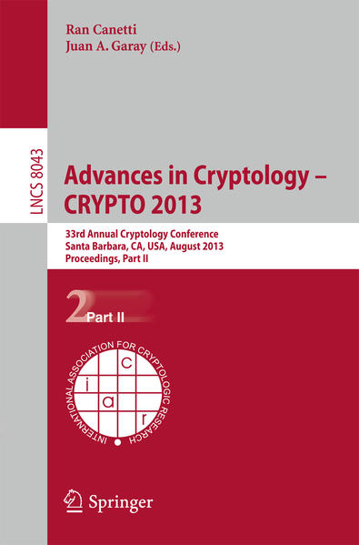 Advances in Cryptology – CRYPTO 2013 - Coverbild