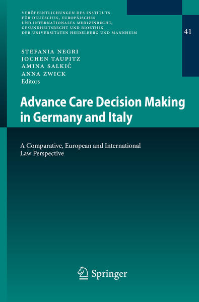 Advance Care Decision Making in Germany and Italy - Coverbild