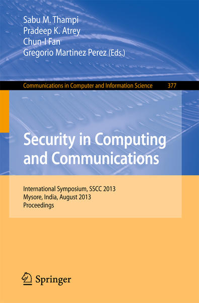 Security in Computing and Communications - Coverbild
