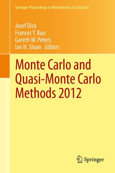 Monte Carlo and Quasi-Monte Carlo Methods 2012 - Coverbild