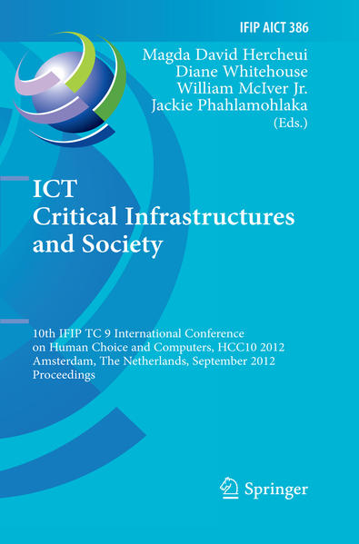 ICT Critical Infrastructures and Society - Coverbild
