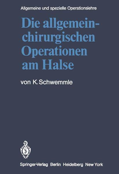Die allgemein-chirurgischen Operationen am Halse - Coverbild