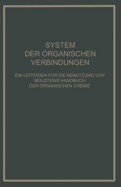 System Der Organischen Verbindungen - Coverbild