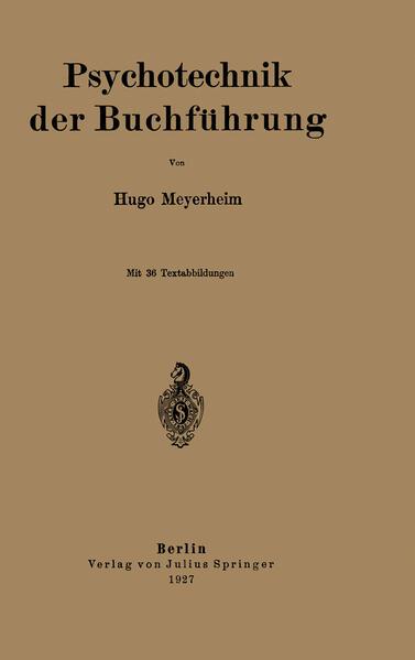 Psychotechnik der Buchführung - Coverbild