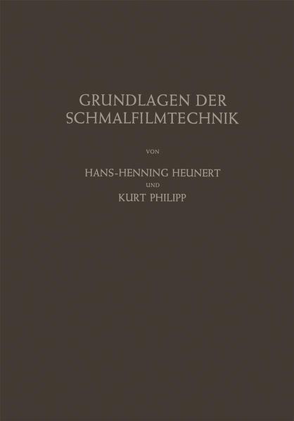 Grundlagen der Schmalfilmtechnik - Coverbild
