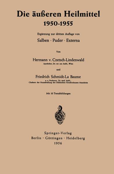Die äußeren Heilmittel 1950–1955 - Coverbild