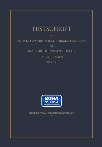 Festschrift zur Feier des zweihundertjährigen Bestehens des Akademie der Wissenschaft in Göttingen - Coverbild