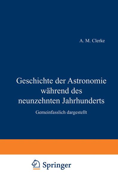 Geschichte der Astronomie während des neunzehnten Jahrhunderts - Coverbild